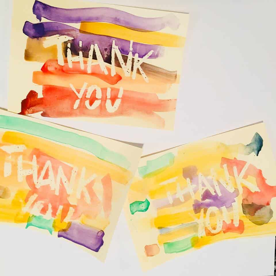 Make Cards, or Loving Thank You Notes for Family Members