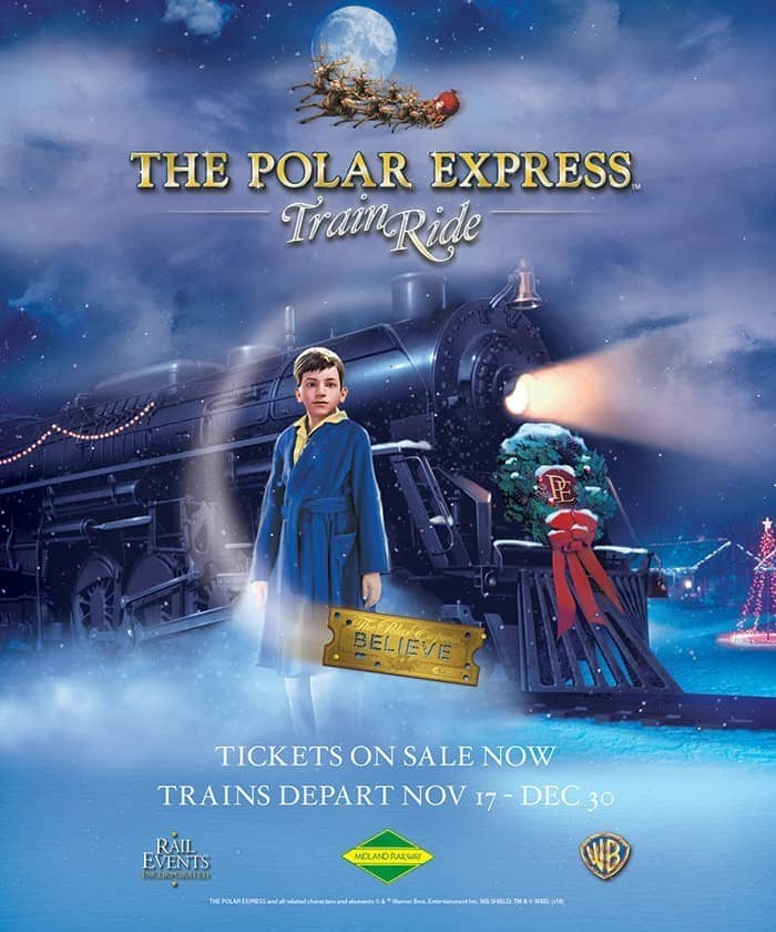 polar express train at midland railway