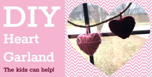 Easy DIY Valentines Day Craft for Kids Valentines Day Decor Heart Garland