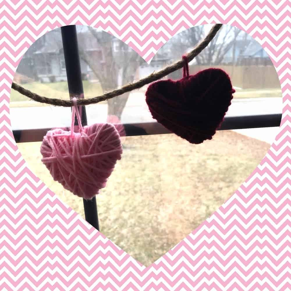 Valentines Day Craft Heart String Decor