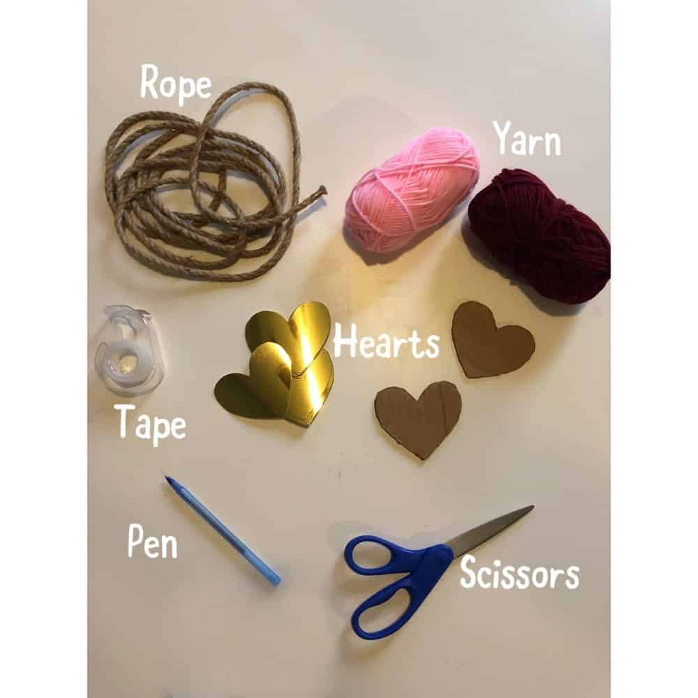 Valentines Day Craft Heart String Decor Supplies