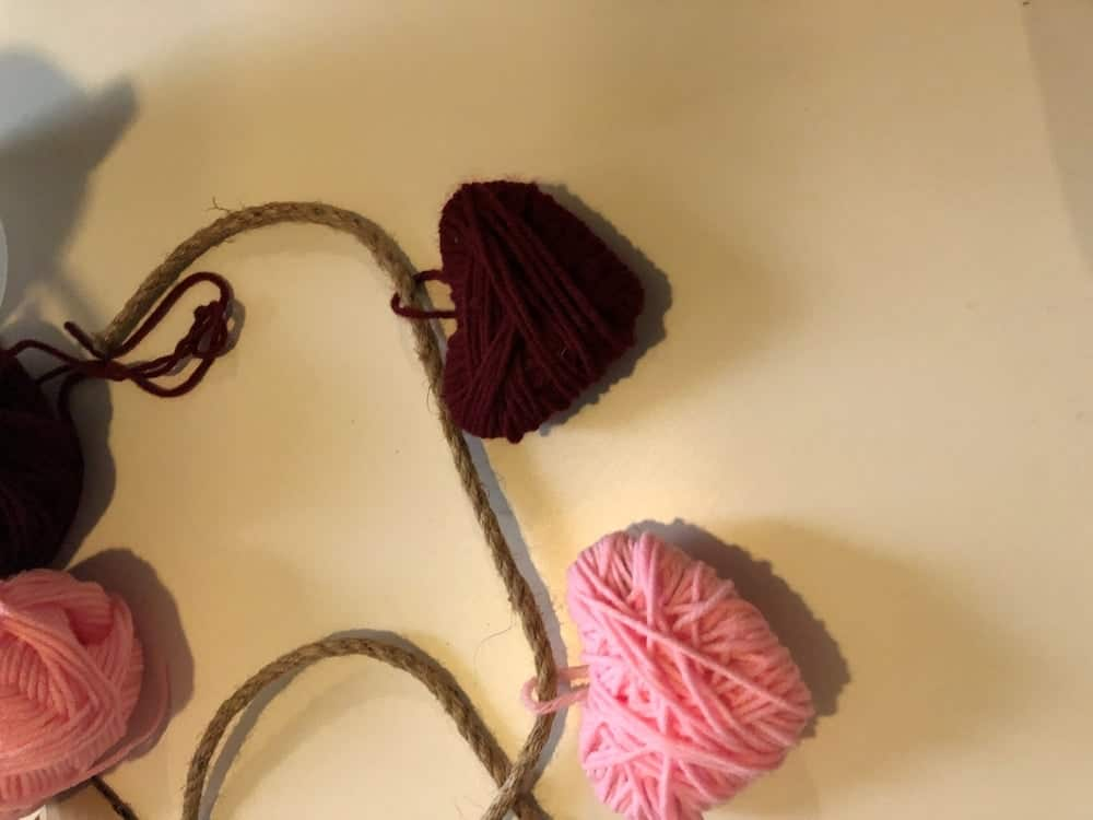 Valentines Day Craft for Heart String Decor