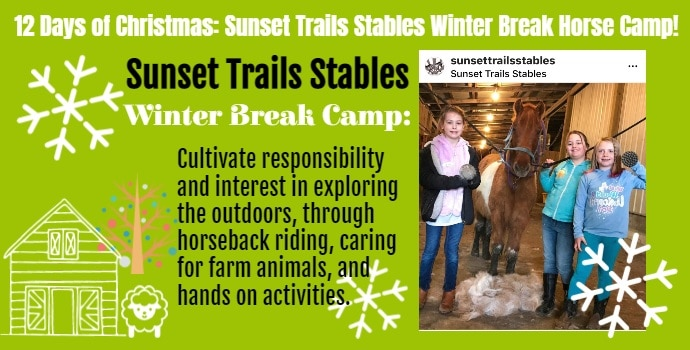 12 Days of Christmas Day 4 Sunset Trails Stables