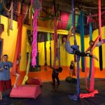 intro to aerial silks class for kids at learning2fly